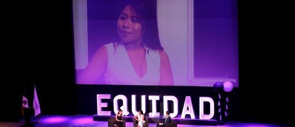 Mexican actress Yalitza Aparicio attends the Gender Equity Forum at Luis Elizondo Auditorium in Monterrey, Mexico September 20, 2019. REUTERS/Daniel Becerril - RC16303C9440