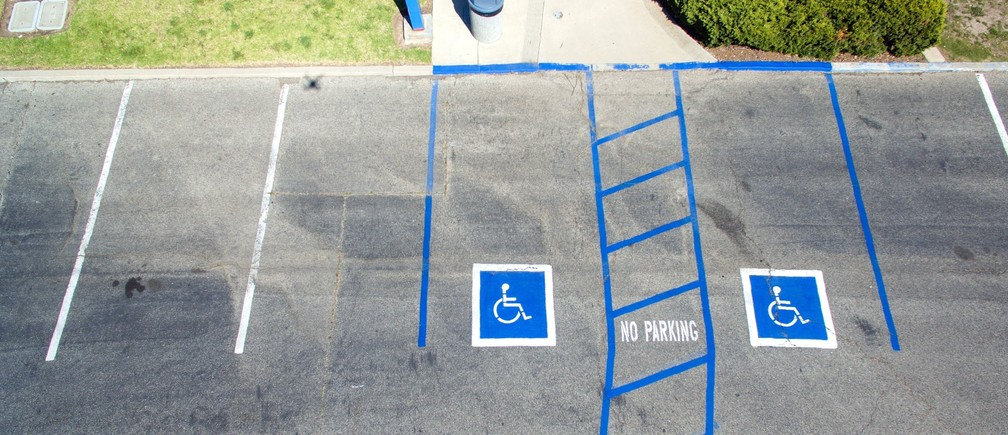 Two disabled parking spots.