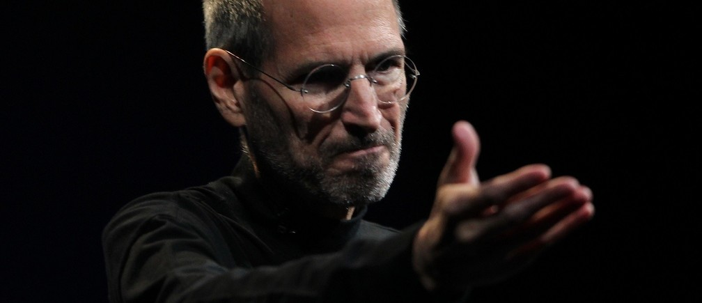 Apple CEO Steve Jobs gestures during his unveiling of the iPhone 4 at the Apple Worldwide Developers Conference in San Francisco, California, in this June 7, 2010 file photo. Apple Inc co-founder and former CEO Steve Jobs, counted among the greatest American CEOs of his generation, died on October 5, 2011 at the age of 56, after a years-long and highly public battle with cancer and other health issues.