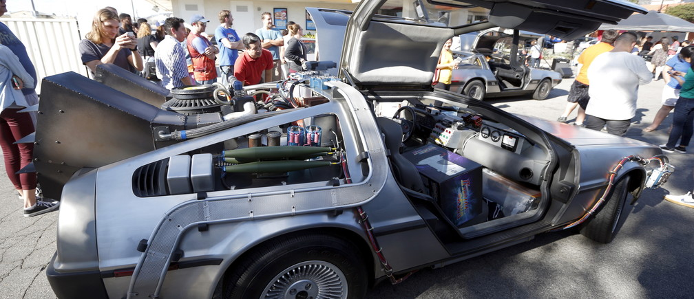 The DeLorean from Back to the Future II