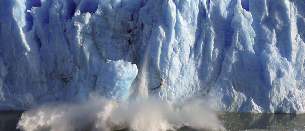 Splinters of ice peel off from the Perito Moreno glacier in Argentina