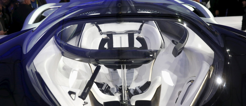 The cockpit of the Faraday Future FFZERO1 electric concept car is pictured after an unveiling at a news conference in Las Vegas, Nevada January 4, 2016. REUTERS/Steve Marcus