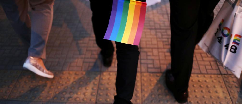 Thailand's LGBT community gathers for a gay pride parade in Bangkok, Thailand, November 29, 2018. REUTERS/Ann Wang - RC1132124990