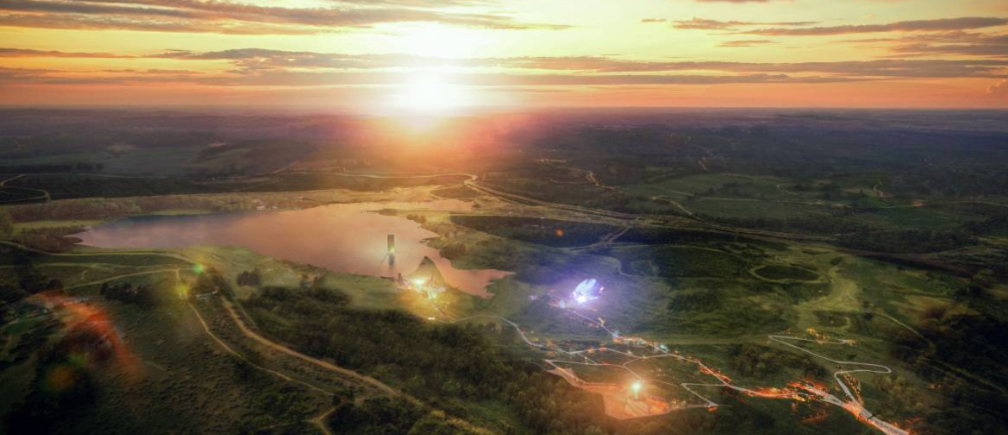 An artist's impression of the proposed new Eden Project on the site of a former Alcoa coalmine in Victoria, Australia. Undated. Handout photo courtesy of the Eden Project