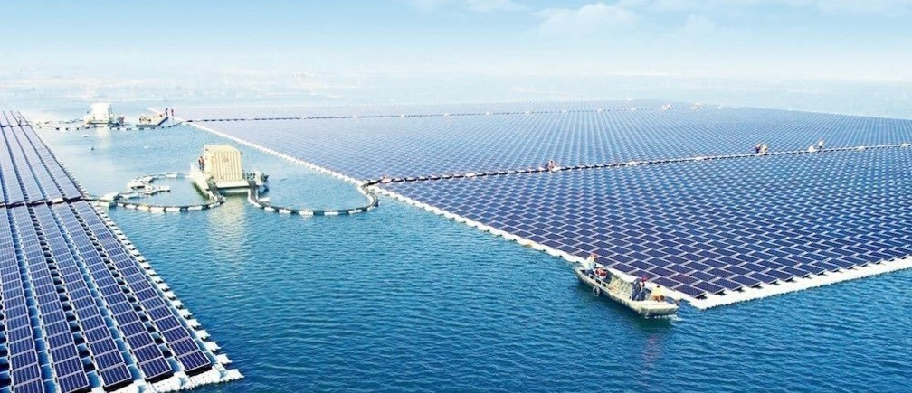 The 40MW floating solar power plant at Huainan, China, is the world's largest