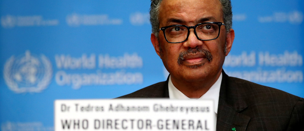 Director General of the World Health Organization (WHO) Tedros Adhanom Ghebreyesus speaks during a news conference on the situation of the coronavirus (COVID-2019), in Geneva, Switzerland, February 28, 2020.
