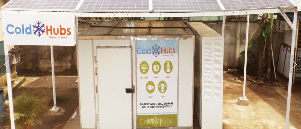 Nigerian start-up ColdHubs is using solar power to reduce food waste and boost suppliers' profits