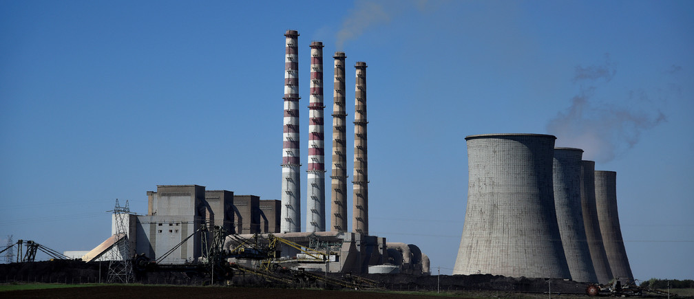 A view of the coal-fired power station of the Public Power Corporation (PPC) near the northern town of Ptolemaida, Greece, April 2, 2017. Picture taken April 2, 2017. REUTERS/Alexandros Avramidis - RC111F7D30E0