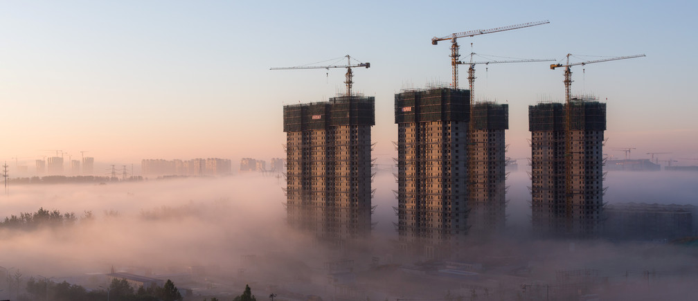 A building site in Tongzhou District, Beijing.