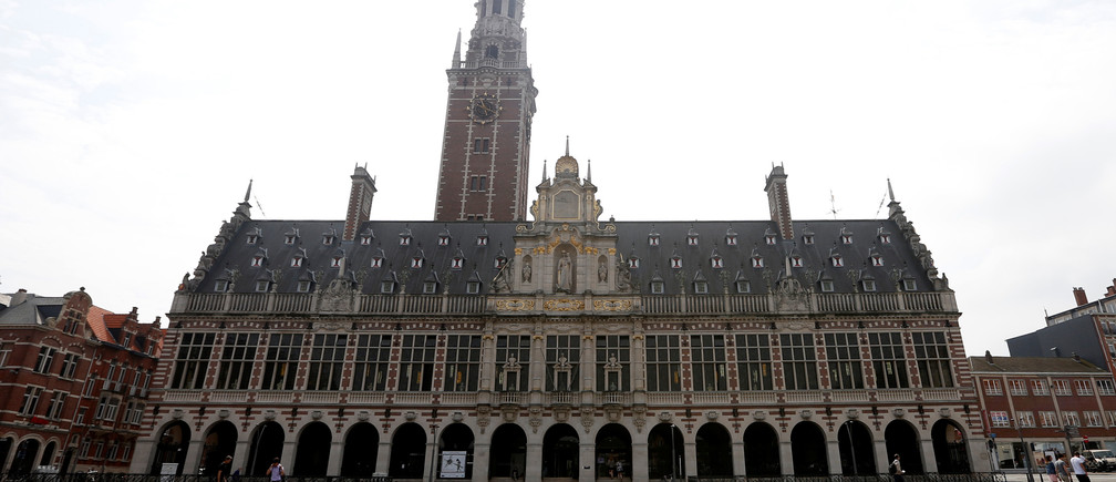 "The library of the university KU Leuven ""Katholieke Universiteit Leuven"" is pictured in Leuven, Belgium, June 8, 2016. REUTERS/Francois Lenoir/File Photo - RTX2G3ME"