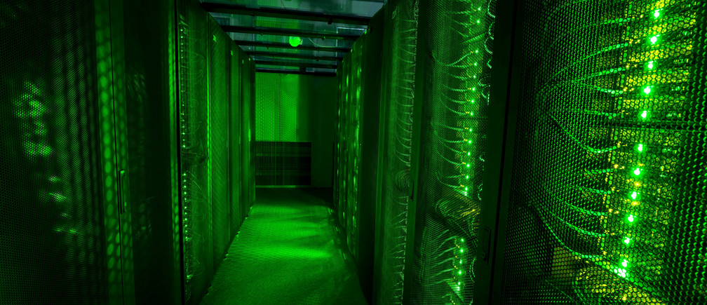 Servers for data storage are seen at Advania's Thor Data Center in Hafnarfjordur, Iceland August 7, 2015.   REUTERS/Sigtryggur Ari/File Photo - RTX2LMZX