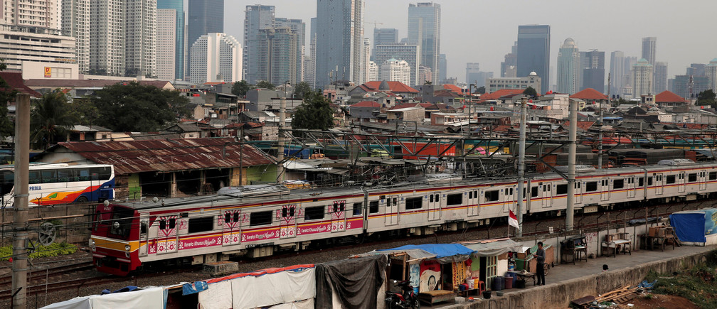 A slum area in Jakarta, Indonesia