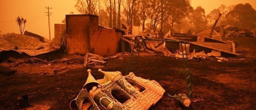 The remains of a destroyed house are pictured in Cobargo, as bushfires continue in New South Wales, Australia January 5, 2020. REUTERS/Tracey Nearmy - RC2N9E9RL6LS