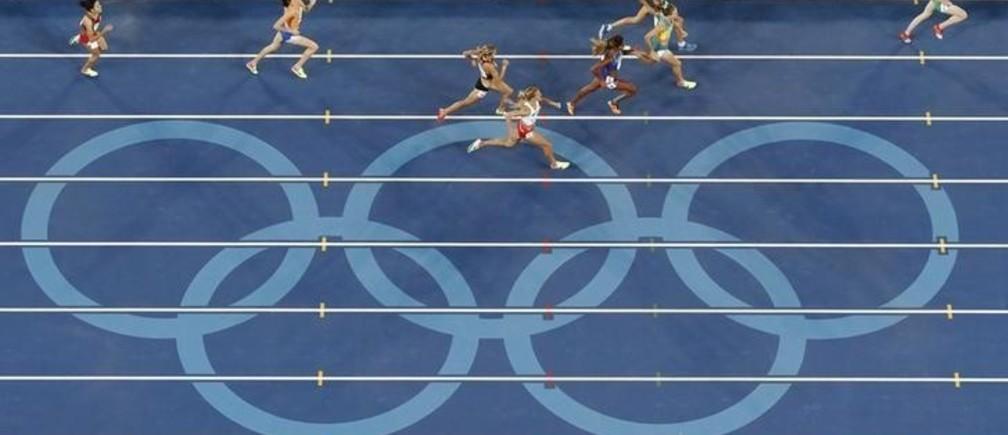 2016 Rio Olympics - Athletics - Preliminary - Women's 1500m Round 1 - Olympic Stadium - Rio de Janeiro, Brazil - 12/08/2016. Athletes compete in Heat 2.