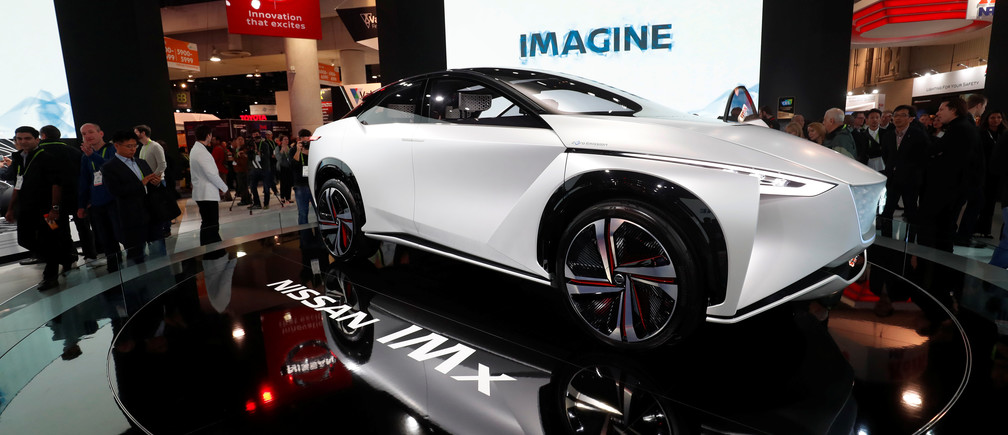 Nissan's IMx electric concept car is displayed at the Las Vegas Convention Centre in January.