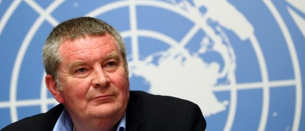 Mike Ryan, Executive Director of the World Health Organisation (WHO) attends a news conference on the Ebola outbreak in the Democratic Republic of Congo at the United Nations in Geneva, Switzerland May 3, 2019. REUTERS/Denis Balibouse