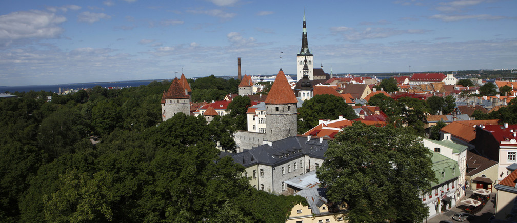 A view of the old city of Tallinn June 16, 2010. The European Parliament by a big majority of votes on Wednesday approved report on Estonia's change over to the euro currency from the start of next year.    REUTERS/Ints Kalnins (ESTONIA - Tags: POLITICS CITYSCAPE) - GM1E66G1U2W01