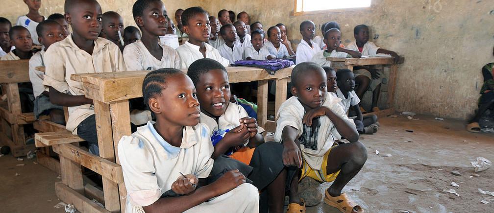 School children in Kakuma refugee camp, Kenya