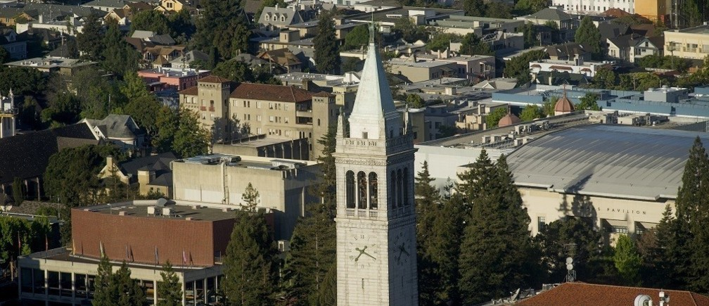Sather Tower rises above the University of California at Berkeley campus in Berkeley, California May 12, 2014.    REUTERS/Noah Berger  (UNITED STATES - Tags: EDUCATION) - RTR3OX0D