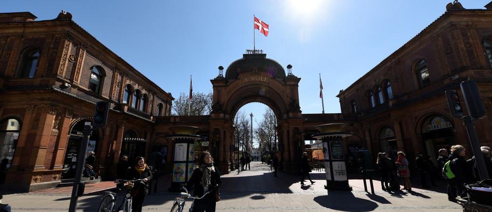 A Danish flag is pictured in Copenhagen, Denmark April 19, 2017.  REUTERS/Fabian Bimmer - RC16AA332670