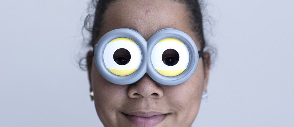 Michelle Carrera attends New York Comic Con dressed as a Minion in Manhattan, New York, October 8, 2015.  The event draws thousands of costumed fans, panels of pop culture luminaries and features a sprawling floor of vendors in a space equivalent to more than three football fields at the Jacob Javits Convention Center on Manhattan's West side. REUTERS/Andrew Kelly - GF10000237484