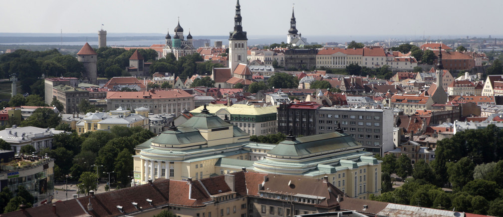 View of Estonia's capital Tallinn July 13, 2010. European Union finance ministers gave the final approval on Tuesday to Estonia joining the euro zone from the start of 2011 and set an exchange rate for the conversion of Estonian kroon into euros. REUTERS/Ints Kalnins (ESTONIA - Tags: POLITICS BUSINESS CITYSCAPE) - GM1E67E03ZG01