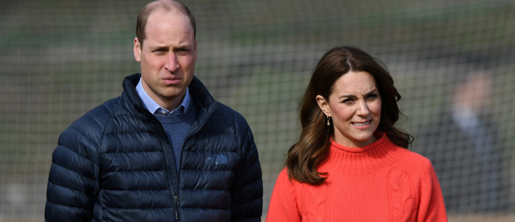 Britain's Prince William and Catherine, Duchess of Cambridge visit the local Salthill Knocknacarra Gaelic Athletic Association Club (GAA) in Galway, Ireland March 5, 2020. Facundo Arrizabalaga/Pool via REUTERS - RC2TDF9UPHS1