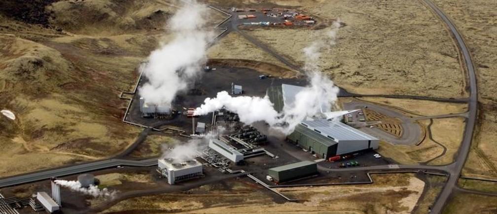 An aerial view of Hellisheidi geothermal power station near Reykjavik, Iceland, June 4, 2016.
