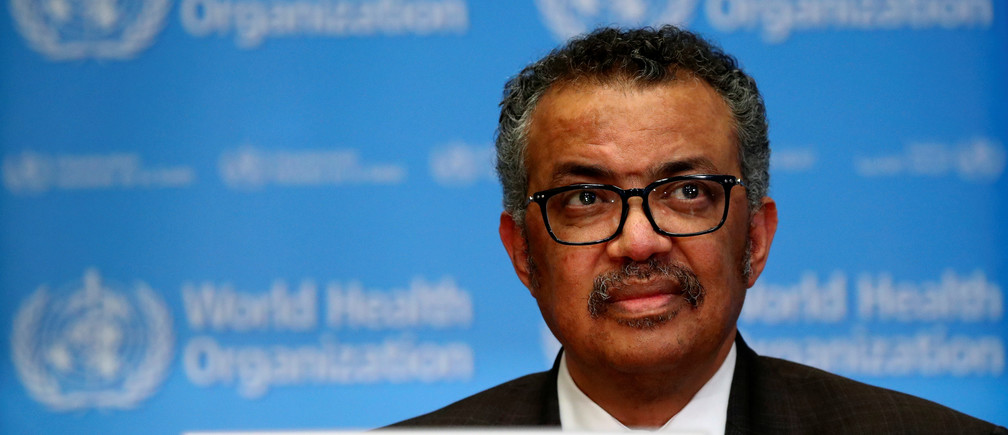 Director General of the World Health Organization (WHO) Tedros Adhanom Ghebreyesus speaks during a news conference on the situation of the coronavirus (COVID-2019), in Geneva, Switzerland, February 28, 2020. REUTERS/Denis Balibouse - RC2R9F9133SB