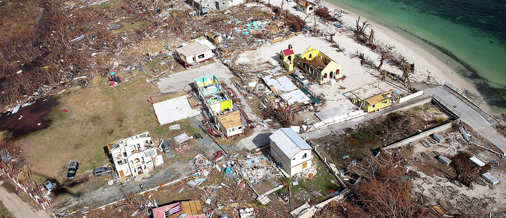 Storm damage is seen from the air after hurricane Irma passed Tortola, in the British Virgin Islands, September 11, 2017.  Picture taken September 11, 2017. Captain George Eatwell RM/Ministry of Defence handout via REUTERS  THIS IMAGE HAS BEEN SUPPLIED BY A THIRD PARTY. IT IS DISTRIBUTED, EXACTLY AS RECEIVED BY REUTERS, AS A SERVICE TO CLIENTS   FOR EDITORIAL USE ONLY. NO RESALES. NO ARCHIVES - RC17A0F678D0