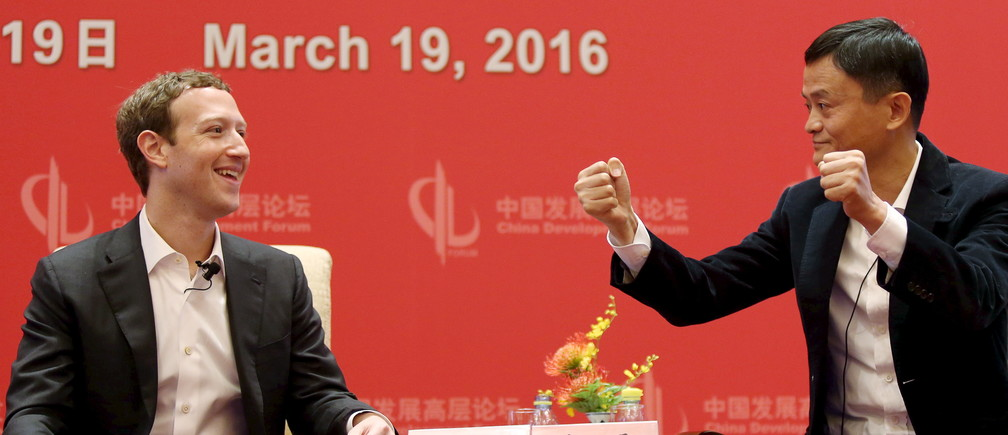 Facebook founder and CEO Mark Zuckerberg looks at Founder and Executive Chairman of Alibaba Group Jack Ma as Ma gestures during the China Development Forum in Beijing, China, March 19, 2016. REUTERS/Shu Zhang Coronavirus china virus health healthcare who world health organization disease deaths pandemic epidemic worries concerns Health virus contagious contagion viruses diseases disease lab laboratory doctor health dr nurse medical medicine drugs vaccines vaccinations inoculations technology testing test medicinal biotechnology biotech biology chemistry physics microscope research influenza flu cold common cold bug risk symptomes respiratory china iran italy europe asia america south america north washing hands wash hands coughs sneezes spread spreading precaution precautions health warning covid 19 cov SARS 2019ncov wuhan sarscow wuhanpneumonia  pneumonia outbreak patients unhealthy fatality mortality elderly old elder age serious death deathly deadly