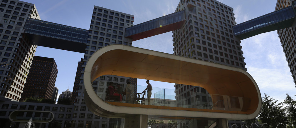 The shape of the future? The Modern Moma commercial and residential complex in Beijing, July 2, 2013.