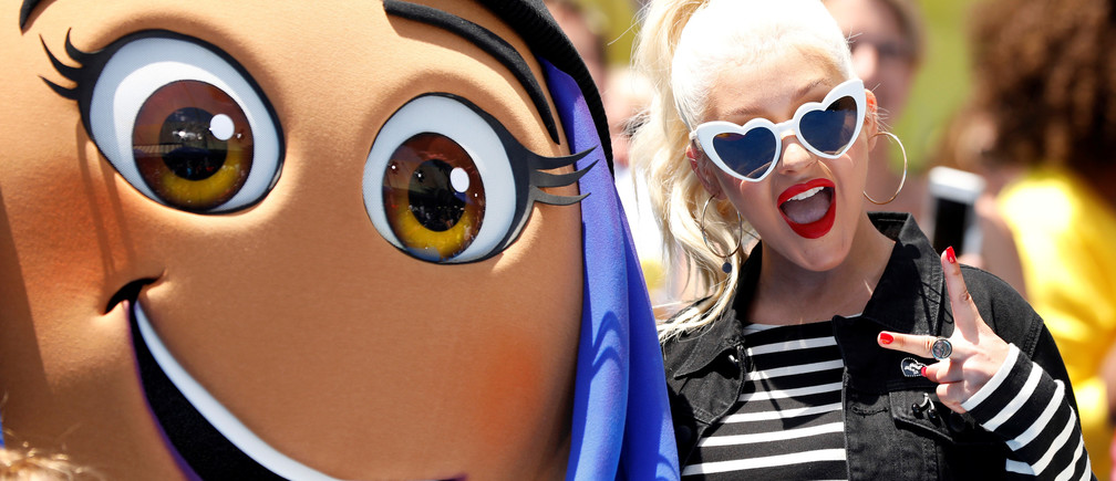 "Cast member Christina Aguilera at the premiere for ""The Emoji Movie"" in Los Angeles, California, U.S., July 23, 2017.   REUTERS/Mario Anzuoni - RC1928C4C430"