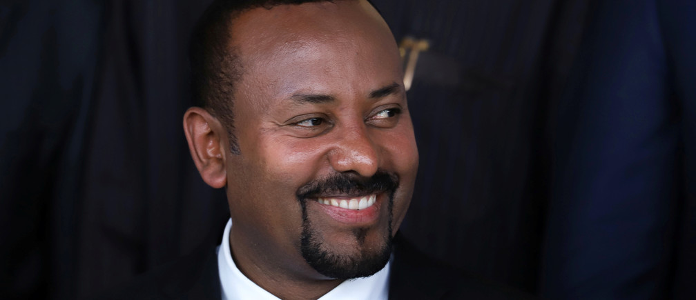 Ethiopia's Prime Minister Abiy Ahmed poses for a photograph during the opening of the 33rd Ordinary Session of the Assembly of the Heads of State and the Government of the African Union (AU) in Addis Ababa, Ethiopia, February 9, 2020.