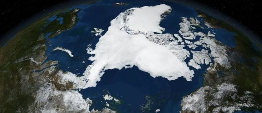 A NASA satellite image from September 16, 2007 and released on September 21, 2007, shows Arctic summer sea ice. Arctic sea ice melted to its lowest level ever this week, shattering a record set in 2005 and continuing a trend spurred by human-caused global warming, scientists said on September 20, 2007. REUTERS/NASA/Handout.  EDITORIAL USE ONLY. NOT FOR SALE FOR MARKETING OR ADVERTISING CAMPAIGNS.