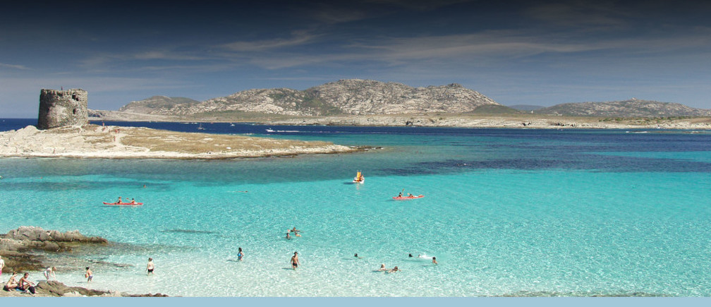 La Pelosa, Sardinia, is one of the most beautiful beaches in Italy.