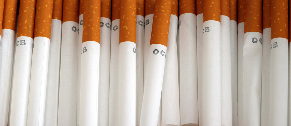 Empty cigarette shells that are used for rolling tobacco are seen in Brioude, France, June 8, 2018. REUTERS/Regis Duvignau - RC19862A3B80