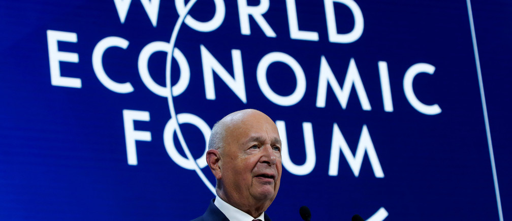 Founder and Executive Chairman of World Economic Forum Klaus Schwab speaks during a session at the 50th World Economic Forum (WEF) annual meeting in Davos, Switzerland January 23, 2020. REUTERS/Denis Balibouse - RC2TLE9D5EXN