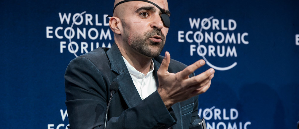 Suleiman Bakhit, Founder and Chief Executive Officer, Hero Factor, Jordan; Young Global Leader, speaking on stage at the World Economic Forum on the Middle East and North Africa 2017