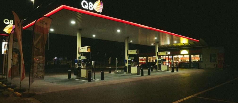 Empty gas station
