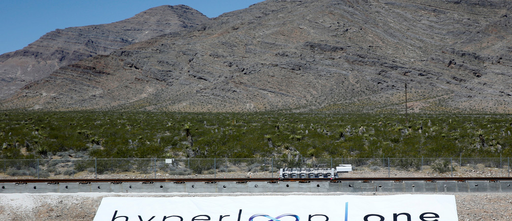 Vision of the future? The hyperloop test site in Nevada