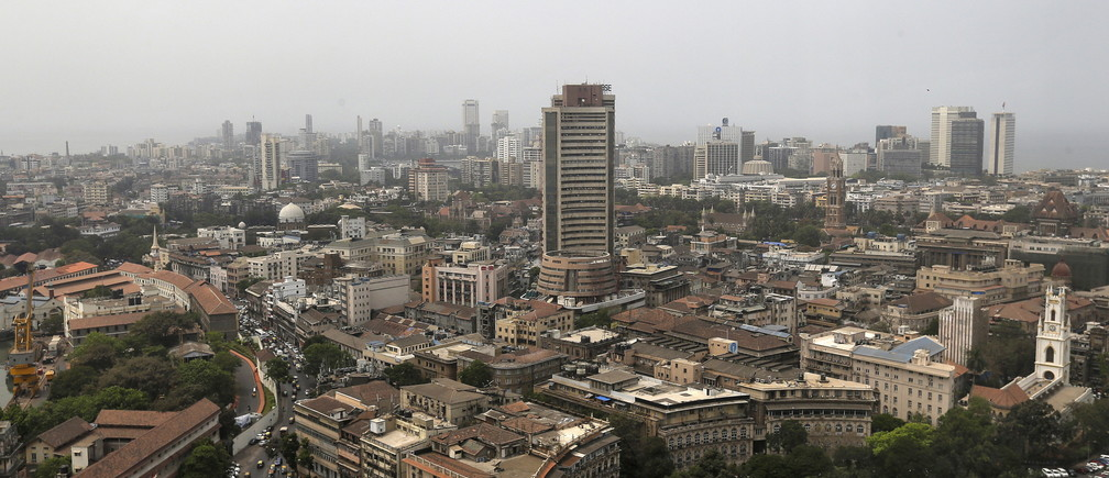 A general view of Mumbai's southern financial district, India, April 5, 2016.