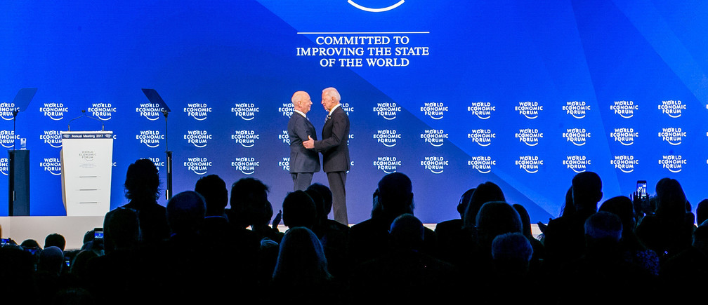Klaus Schwab, Founder and Executive Chairman World Economic Forum and Joseph R. Biden Jr.,  Vice-President of the United States of America Office of the Vice-President of the United States at the Annual Meeting 2017 of the World Economic Forum in Davos, January 18, 2017.Copyright by World Economic Forum / Benedikt von Loebell