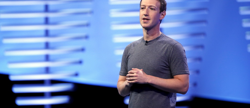Facebook CEO Mark Zuckerberg speaks on stage during the Facebook F8 conference in San Francisco, California April 12, 2016. REUTERS/Stephen Lam - RTX29NQI