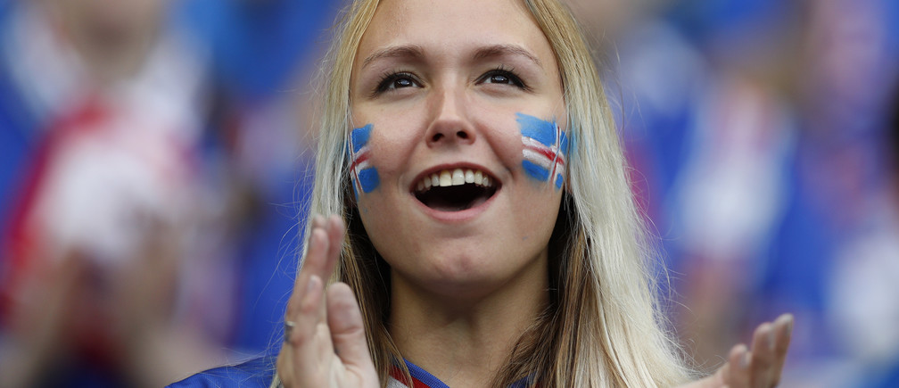 Football Soccer - France v Iceland - EURO 2016 - Quarter Final - Stade de France, Saint-Denis near Paris, France - 3/7/16Iceland fan before the gameREUTERS/John SibleyLivepic - 14468878