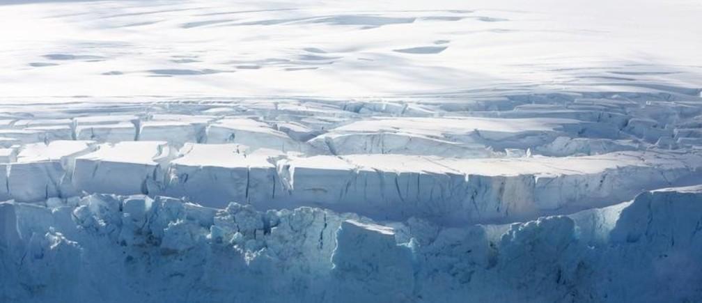 A glacier in Half Moon Bay, Antarctica, February 18, 2018.