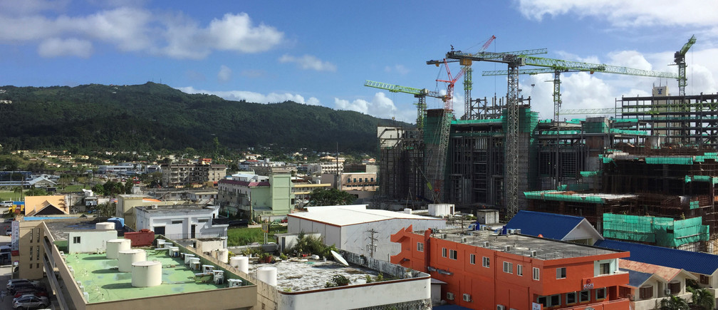 The first phase of a new casino resort is seen under construction at Saipan, a U.S. South Pacific island, November 22, 2016. Picture taken November 22, 2016.  REUTERS/Farah Master - RTX2UKEK