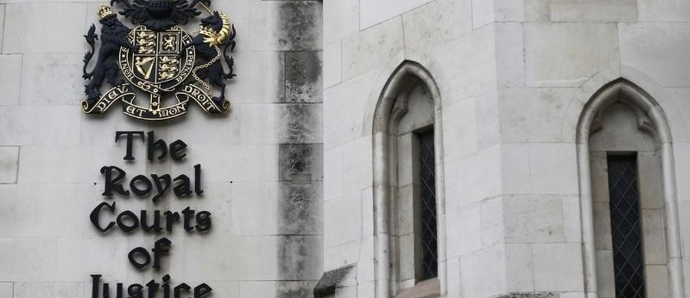 The Royal Courts of Justice are seen in London