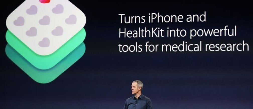 Apple's senior vice president of Operations Jeff Williams speaks about Apple's medical research kit during an Apple event in San Francisco, California March 9, 2015.  REUTERS/Robert Galbraith (UNITED STATES  - Tags: SCIENCE TECHNOLOGY BUSINESS)   - TB3EB391CO9DT