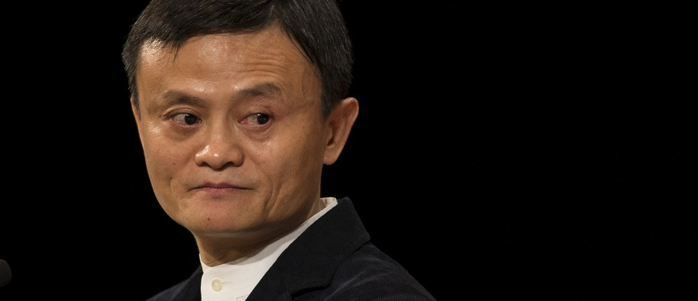 Jack Ma, Founder and Executive Chairman of Alibaba Group addresses the Economic Club of New York at the Waldorf Astoria Hotel in the Manhattan borough of New York City, June 9, 2015.   REUTERS/Mike Segar - RTX1FTW0